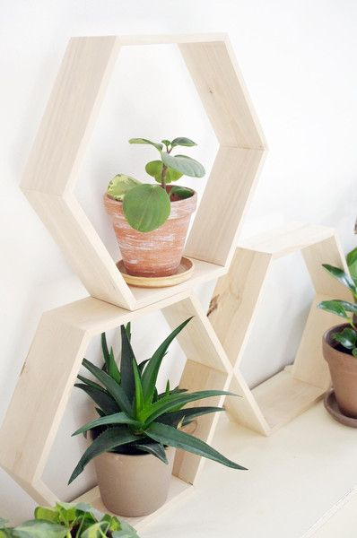 HEX XL - półka drewniana heksagon w AnyTHING Manufaktura Drewna na DaWanda.com