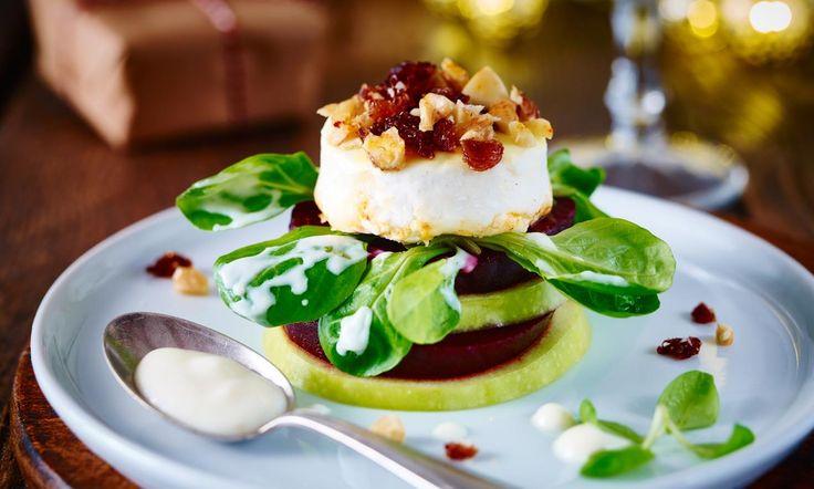 Gegrillter Ziegenkäse auf Salattürmchen Rezept | Dr. Oetker