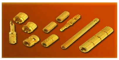 Various Brass Inserts injection molding inserts mold in inserts plastic moudling inserts PPR fittings PPR moulding inserts CPVC fittings UPVC inserts moulding inserts Brass plastic moulding inserts with UNC UNF BSW BA Metric Threads in different shapes available with or without knurling. Knurled moulding inserts offer better grip and hence are strongly advised for plastic wood PVC Rubber injection and roto moulding materials.
