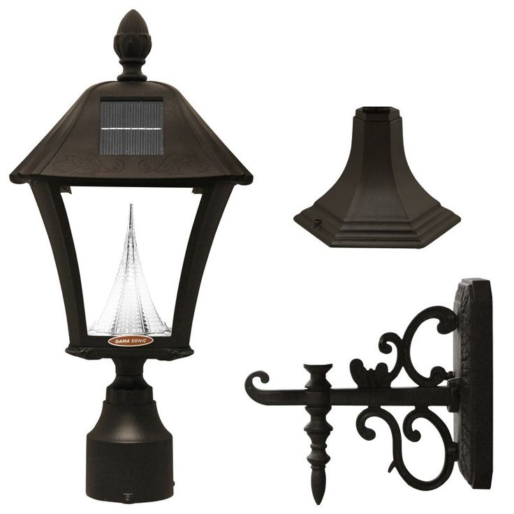 Gama Sonic Baytown Solar LED Light Fixture with Mounting Kit - 106