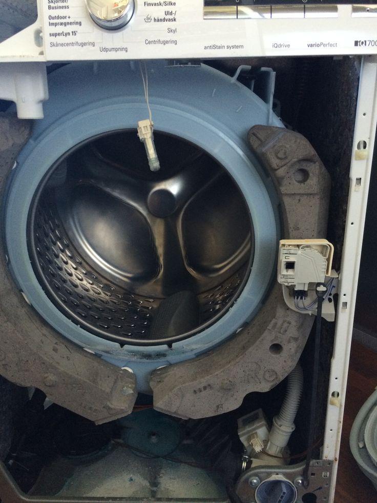 Lugebælg reparation på simens vaskemaskine