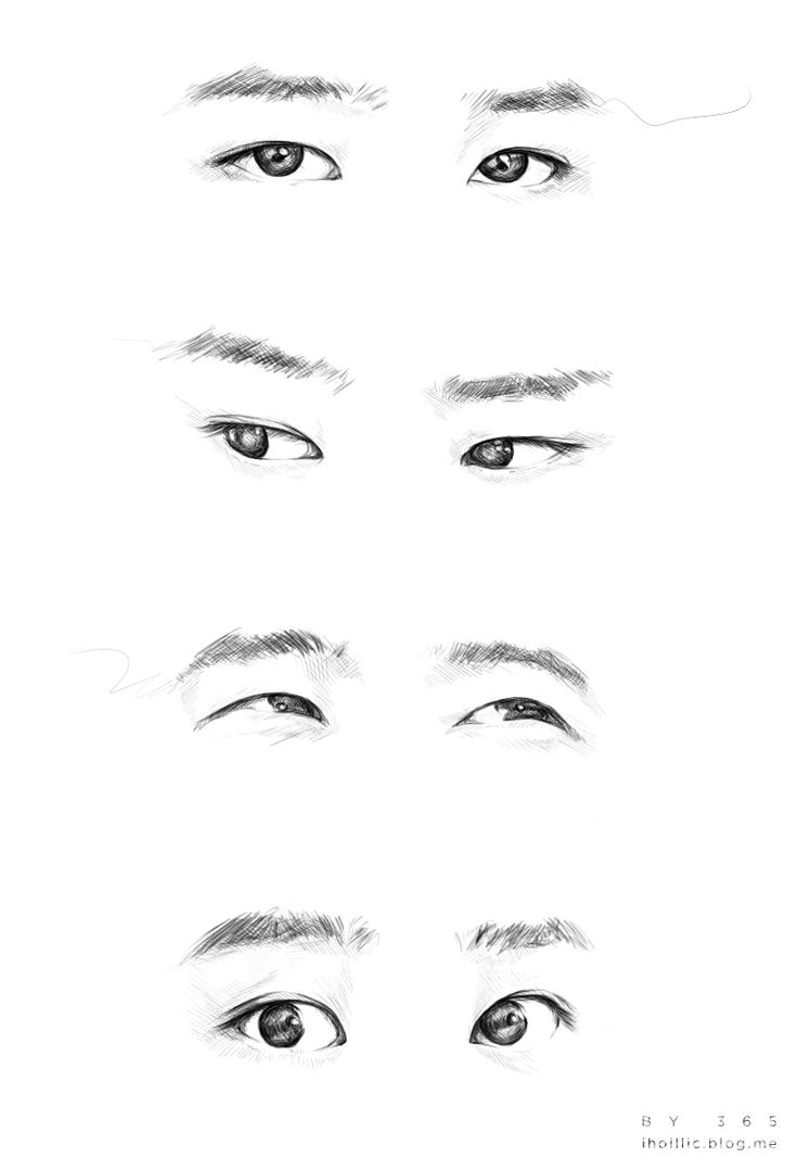 how to draw chinese eyes