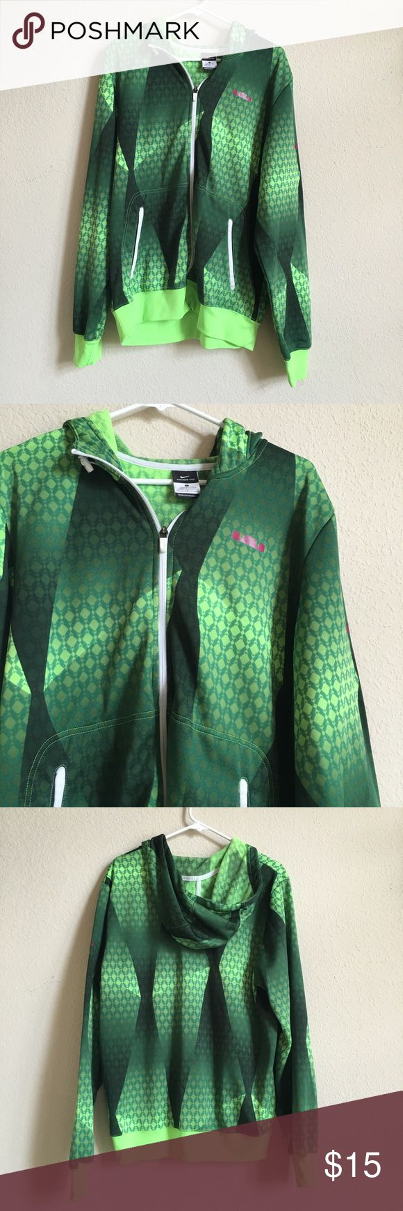 Nike Lebron James Hoodie Selling a size large Nike Lebron James Zip Up Hoodie. The hoodie is in good condition! Nike Jackets & Coats