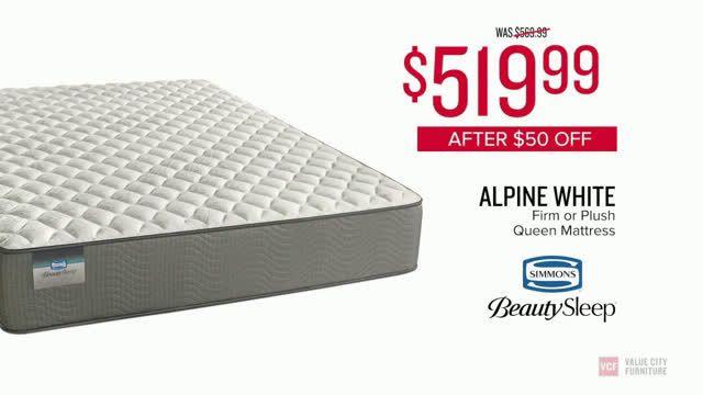 Value City Furniture Alpine White Mattress Ad Commercial On Tv 2018 Mattress Mattress Shop American Signature Furniture