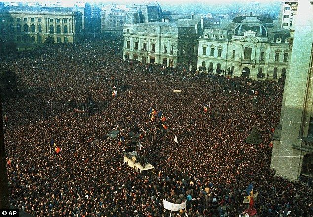 Image result for Romanian people armed uprising in 1989