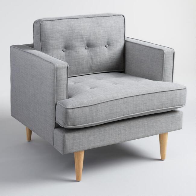 Dove Gray Woven Apel Armchair - v1