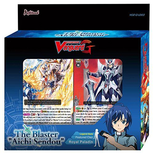 """The Blaster ""Aichi Sendou"""" is the 3rd Legend Deck released in the Japanese and English formats. 伊藤彰/伊藤未生/山﨑奈苗/村枝賢一/ひと和/安達洋介/石田バル"