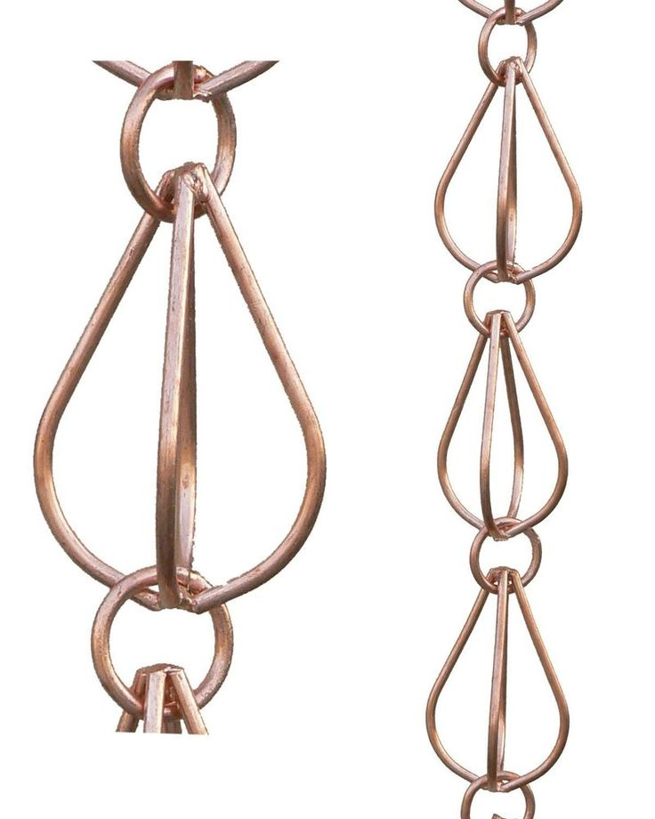 Monarchs Pure Copper Teardrop Rain Chain 8 1 2 Feet Length | eBay