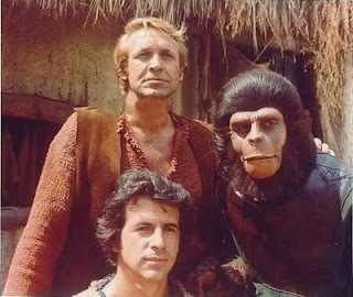 """Watching the original """"Planet of the Apes"""". TV show of the 70's"""
