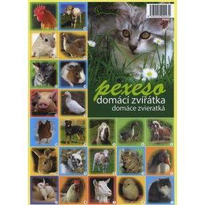 Pexeso Domáce zvieratká - papierové