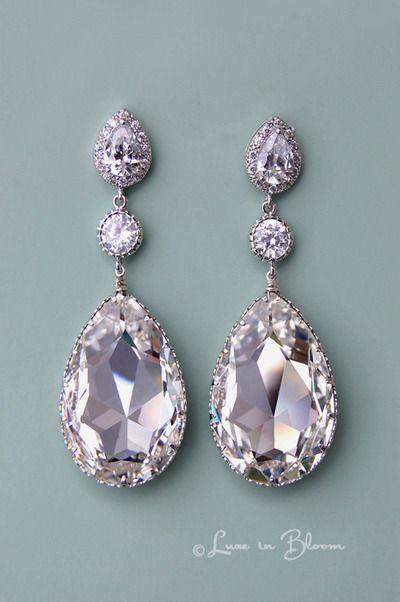 Crystal Clear Swarovski Crystal Earrings - Style # E153-CC. I think these are them