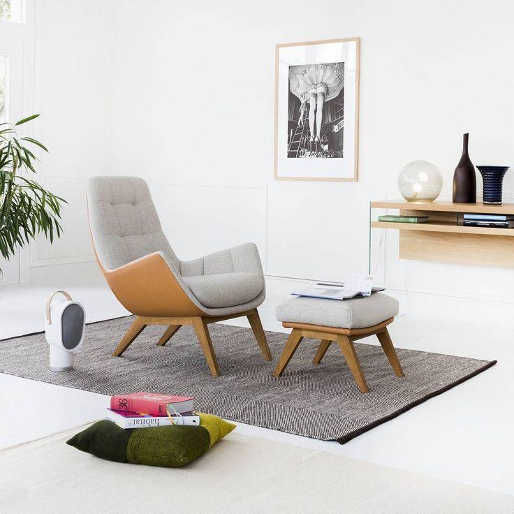 Une petite pause ? #habitat #habitat_fr #deco #decoration #design #deco #inspiration #fauteuil #salon #reposepied #instadeco #instadesign