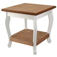 18,95 bijzettafel hout 40.5x41.5 wit/naturel nachtkastjes voor dante