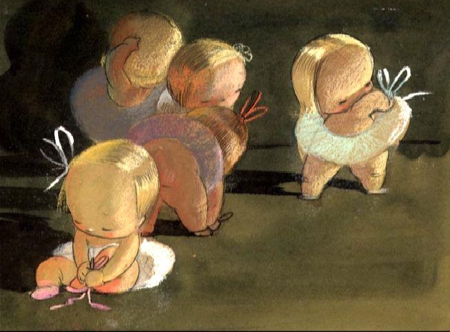Mary Blair: Baby Ballet Disney concept art.