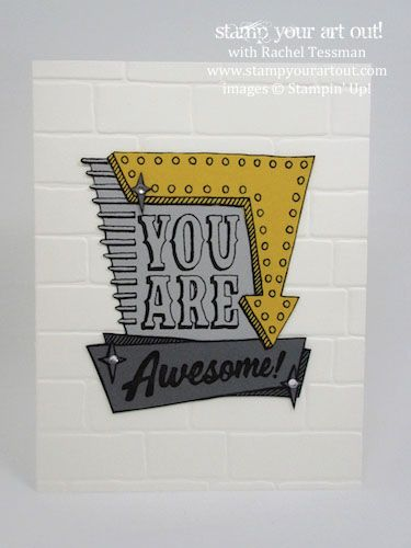 Click here to see my June 2016 Stamp-A-Stack cards – this one features the Marquee Messages stamp set…#stampyourartout #stampinup - Stampin' Up!® - Stamp Your Art Out! www.stampyourartout.com