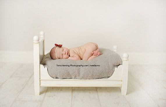 Newborn Photography Prop  Doll Bed  Photo by ALittleMiscellany, $130.00