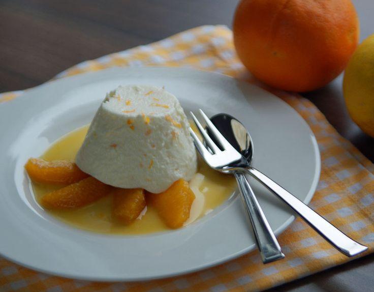 Resteverwertung: Orangencreme mit Orangen-Karamel-Sauce