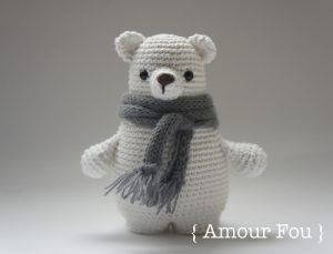 Patron Amigurumi : Leopoldo l'ours polaire – Made by Amy