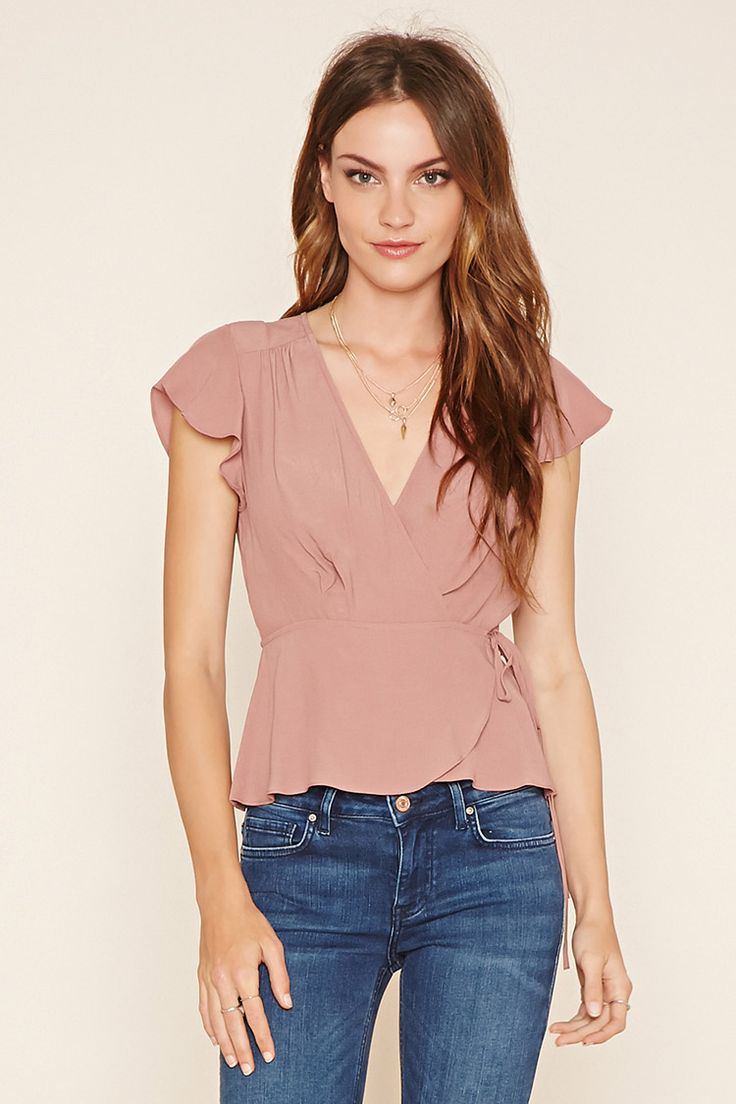 Contemporary Surplice Top | Forever 21 - 2000218591