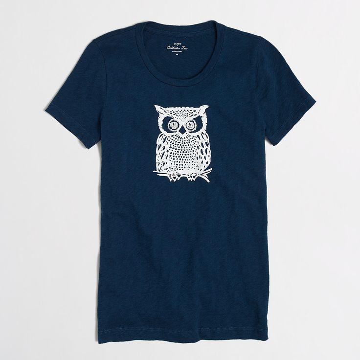 Factory owl collector tee : Online Exclusives | J.Crew Factory