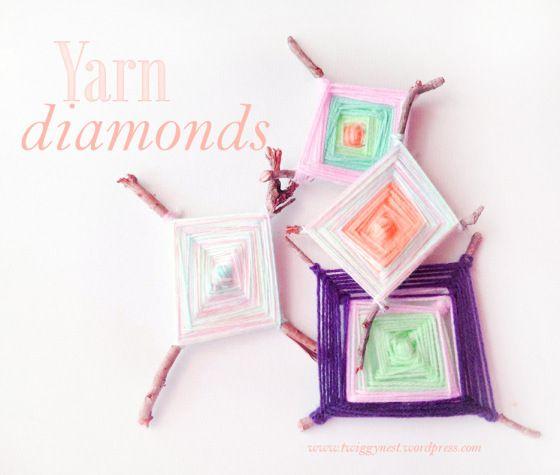 rustic yarn diamonds