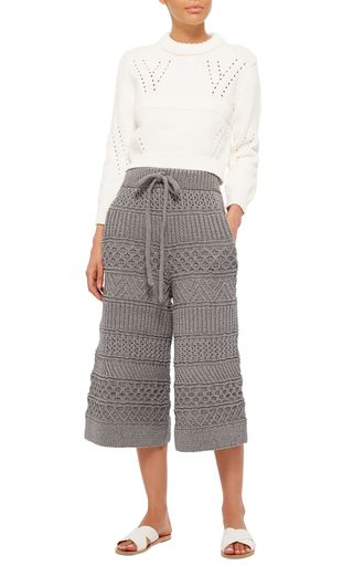 The Fisherman Hand Knit Cotton Blend Culottes by SPENCER VLADIMIR. www.italianist.com