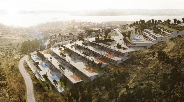 Ziya Imren gewinnt den Wettbewerb für den Beykoz-Schulkomplex in Istanbul