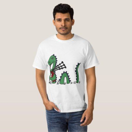 Funny Loch Ness Monster Playing the Bagpipes T-Shirt - tap to personalize and get yours