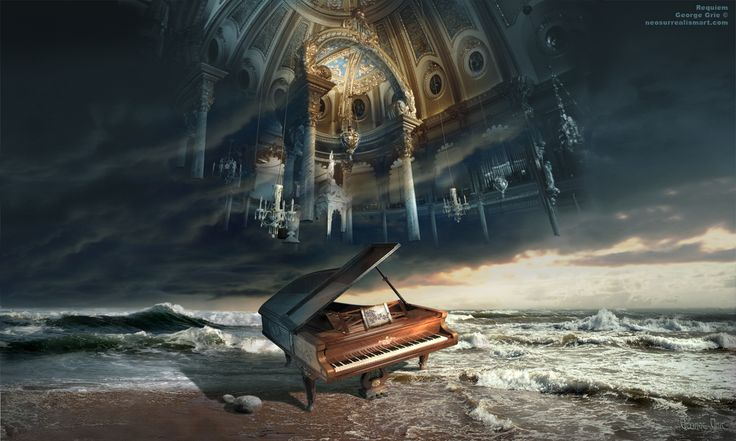 Requiem or Music set you free, Symphony Music requiem elegy funeral hymn masterpiece harmony sonata composition concerto cathedral piano chu...