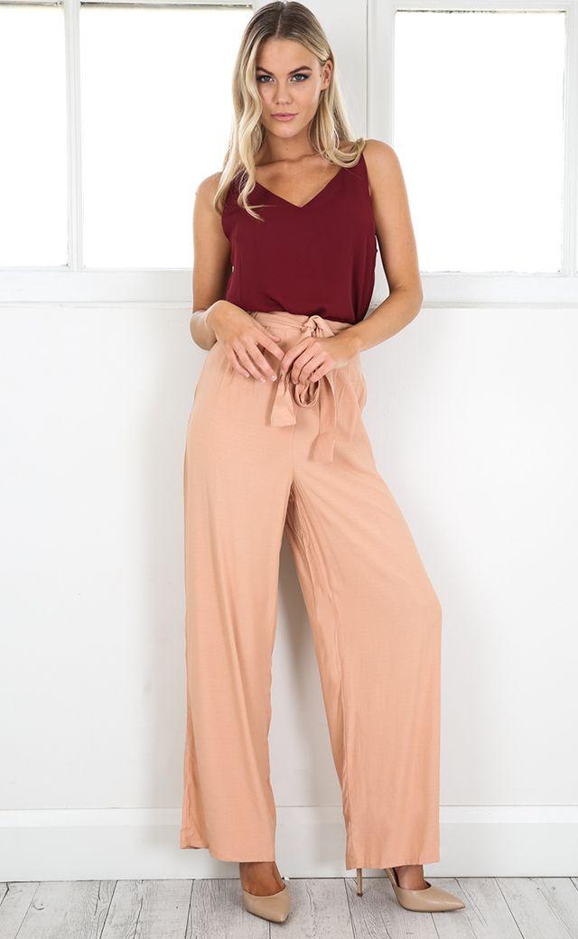 showpo, showpo pants, peach pants,peach, pants