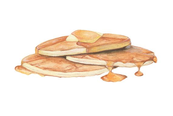 Pancakes with Butter and Syrup // Original by KendyllHillegas, $20.00