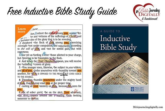 Free Inductive Bible study guide from Precept ministries Kay Arthur for Bible journaling. - post explains the common things people misunderstand about Bible journaling. #biblejournaling #freebie