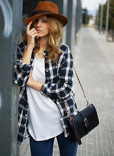 【30代・40代女性】チェックシャツ×スキニージーンズのコーデ(レディース)海外スナップ | MILANDA