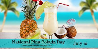 Strain a pineapple add some rum, cream of coconut and mayby more pineapple juice gives us #NationalPinaColadaDay