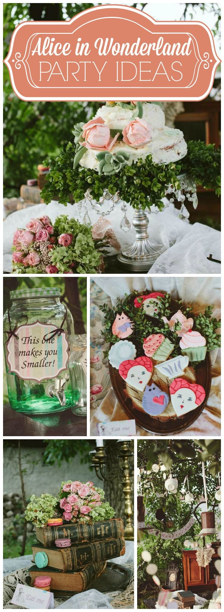 What a magical outdoor Alice in Wonderland party! See more party ideas at CatchMyParty.com!