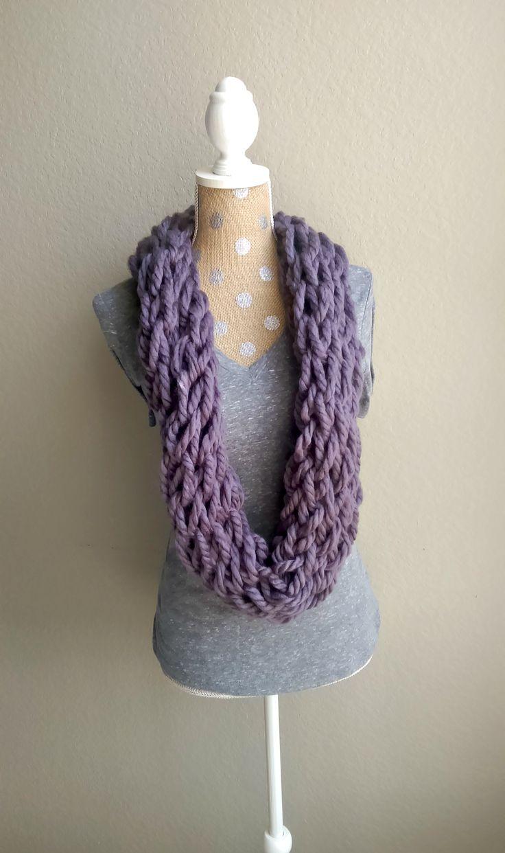 17 Best ideas about Arm Knit Scarf on Pinterest Hand knitting, Finger knitt...