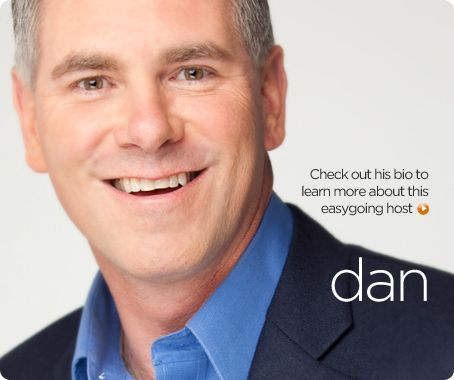Dan is AWESOME and loved having him introduce #WrapiT gift wrap storage organizer to the world!! Host Dan Hughes's Bio