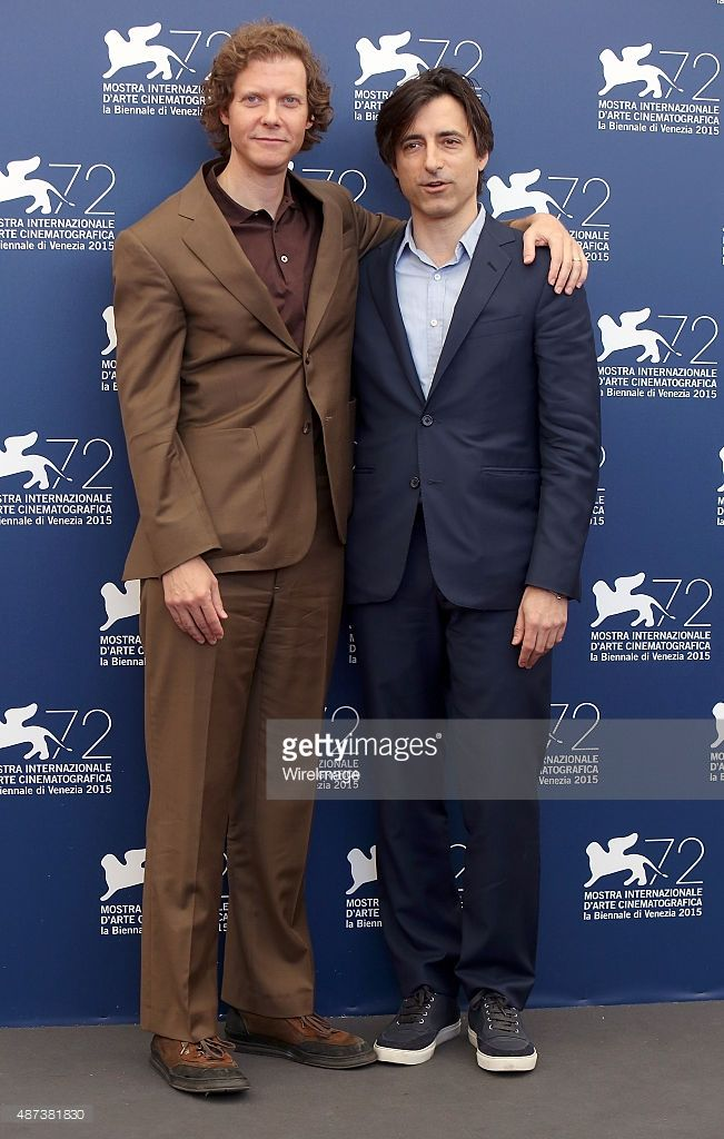 Directors Jake Paltrow and Noah Baumbach attend a photocall for 'De Palma' And 'Jaeger-LeCoultre Glory To The Filmmakers 2015 Awards' during the 72nd Venice Film Festival at Palazzo del Casino on September 9, 2015 in Venice, Italy.