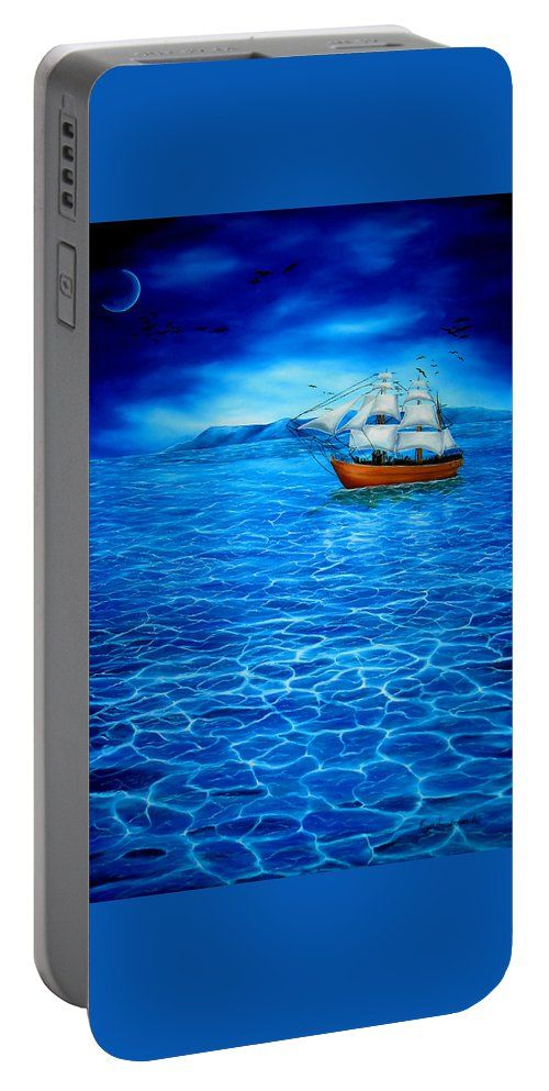 Portable Battery Charger,  blue,cool,beautiful,fancy,unique,trendy,artistic,awesome,fahionable,unusual,accessories,for,sale,design,items,products,gifts,presents,ideas,nautical,marine,sailboat,sea