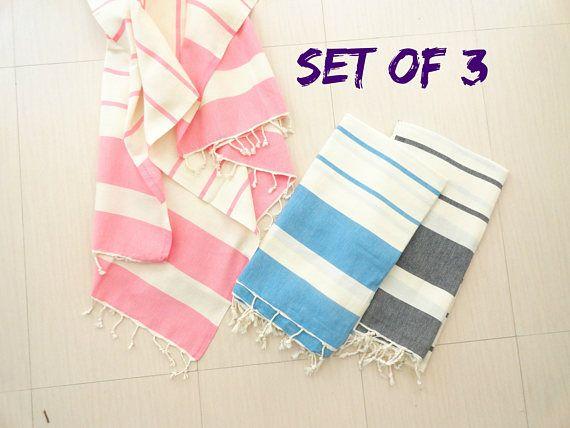 Turkish Towel Set Wholesale Beach Towel Fouta Bulks Pink