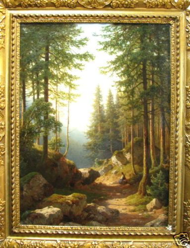 """""""Forest landscape"""" of the Russian painter Ivan Ivanovich Shishkin painted around 1885"""