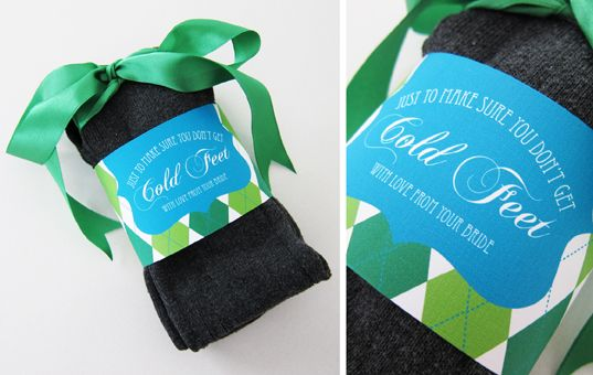Groom's Socks {DIY}. What a cute wedding gift!