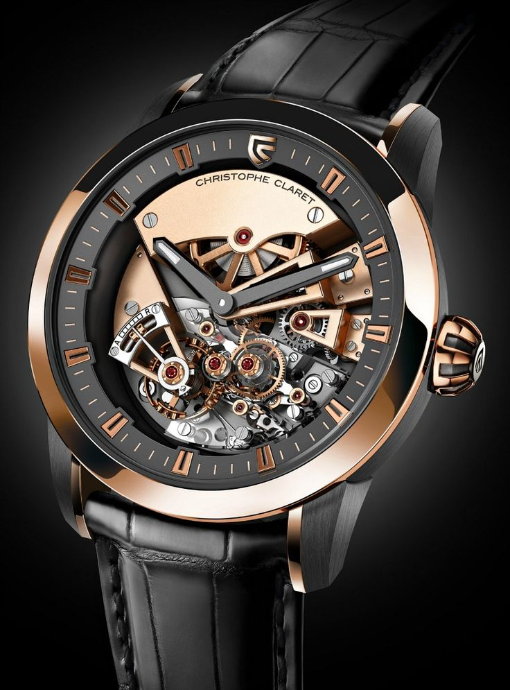 "Christophe Claret Maestoso Watch With Detent Escapement - by Ariel Adams - See more on aBlogtoWatch.com ""Quite remarkably Christophe Claret has released a watch that 'merely' tells the time. Yes, it is true, while the new for 2014 Maestoso is anything but a simple watch, its only indications are the hours and minutes. That is kind of a big deal from a man who finds standard minute repeaters and tourbillons to be more or less passe..."""