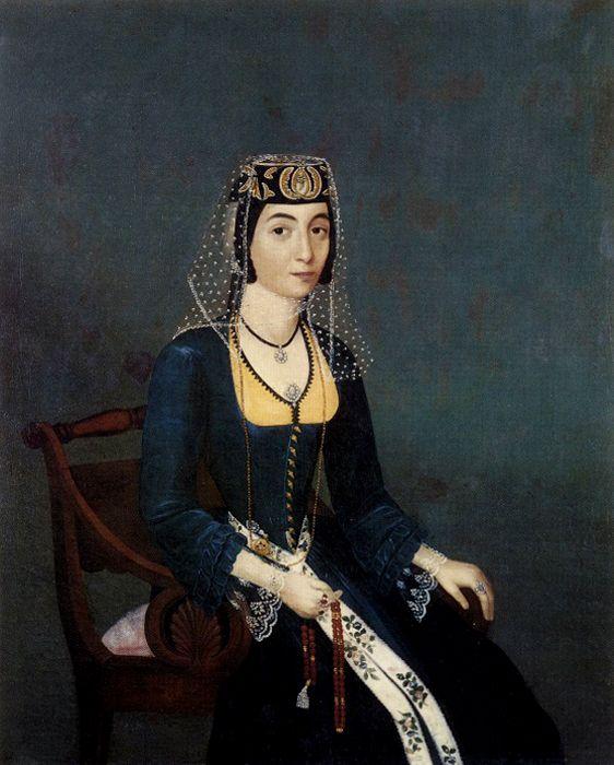 Armenian noblewoman by Hakob Hovnatanyan, c. 1850 (JPEG Image, 562×700 pixels) - Scaled (81%)