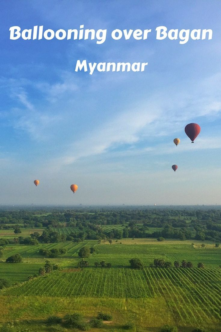 Hot air balloons drifting over the temples of Bagan is one of the iconic images of Myanmar. Being in one of those balloons is an experience not to be missed.