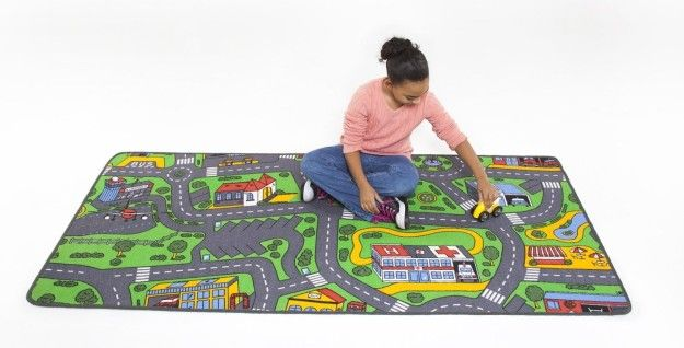 Transform a playroom floor into an imagination-stoking surface with a play rug that comes in six themes. | 27 Of The Best Rugs You Can Get On Amazon