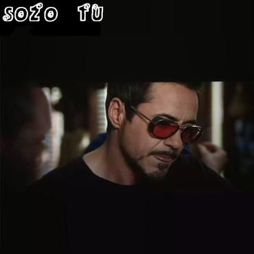 Iron Man 3 Male Steampunk Sunglasses Tony Stark Iron Man Matsuda Sunglasses  Retro Vintage Eyewear Steampunk fe9207fb9c