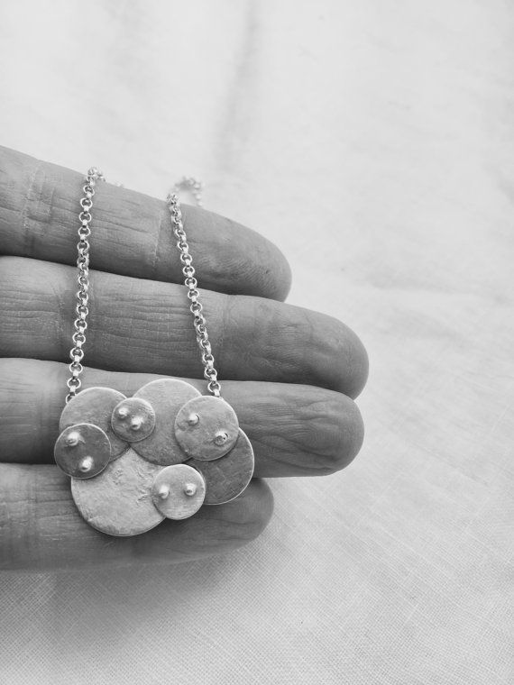 Sterling silver cloud necklace. Lisa Colby Metalsmith (N45 ...