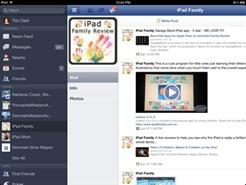 Using Facebook for iPad yet?  Do it.  The easiest way to Facebook with your iPad.  Wonderful!