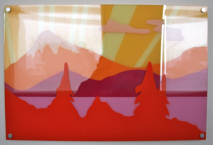 "#elementedenartsearch ""Ureshii"" - Kaja Weum, Three layers of plexiglas and spraypaint. www.kajaweum.com"